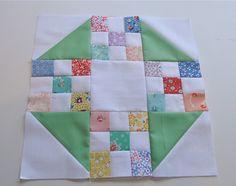 Rose Petal Block (looks like Churn Dash with nine patch)