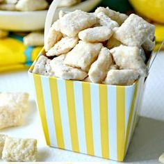 Lemon Bar Muddy Buddies- Grant should probably make these for me.. HINT HINT ;)