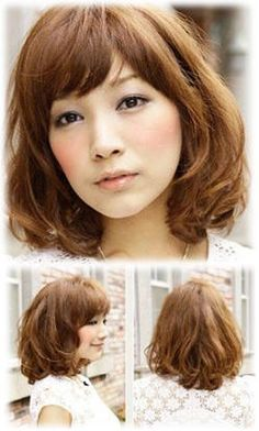 This bob shoulder medium length hairstyle seems a bit low profile but it gives a little bit more points in romantic and cuteness. Natural curly hair tail and fluffy feel is the main focus in this hairstyle. You can have the side bang like show in picture or a straight bang.