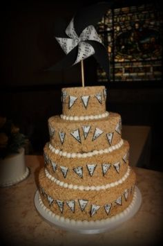 Awesome Wedding Cake Prices Big Wedding Cakes With Cupcakes Flat Wedding Cake Frosting Wood Wedding Cake Young A Wedding Cake PinkSafeway Wedding Cakes I Just Can\u0027t Get Over This Cute Idea   A Rice Krispie Treat ..