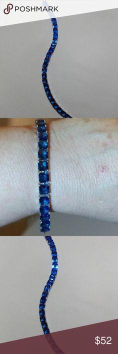 Bracelet Dazzling Blue Sapphire tennis bracelet Jewelry Bracelets