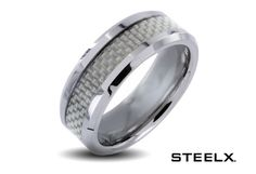6/6/2012  $14.99  + FREE SHIPPING Steelx Stainless Steel White Carbon Fiber Polished Finish Men's Ring