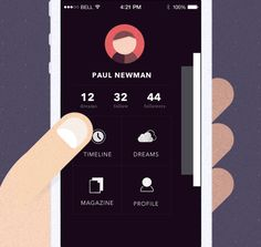 Visionare IOS Mobile App by Pavel Novák, via Behance