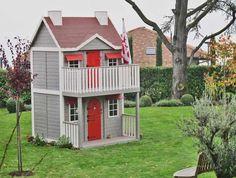 Casita Infantil modelo VILLA ORLEANS en un enorme y precioso jardín / our bigest playhouse in a huge garden!!
