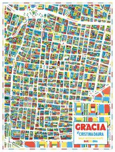 Cartografia barri de Gracia _ Cristina Daura. Espacio y memoria,referente propio