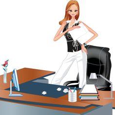 mujer trabajadora directiva vector