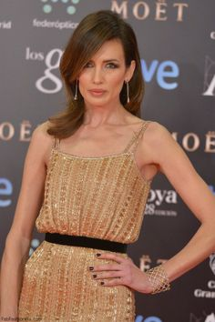 Nieves Alvarez in Ralph & Russo dress at 2014 Goya Awards
