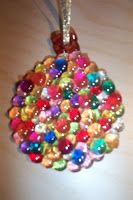The Flutterby Factory: Christmas Ornament- Melted Beads