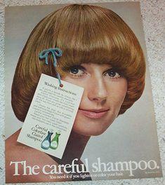 1970 vintage ad page - Clairol colorfast shampoo SEXY GIRL hair PRINT ADVERT  | eBay