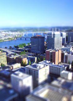 Portland, tilt-shifted