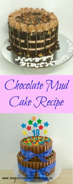 Chocolate Mud Cake Recipe | Every caker needs a good chocolate mud cake recipe. Great for buttercream, fondant and sculpted cakes. And any left overs make great cake pops... or a little side snack! | http://magnificentmouthfuls.com.au/2018/04/16/chocolate-mud-cake-recipe/
