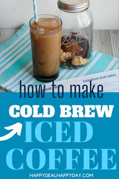 How To Make Simple Cold Brew Iced Coffee Comes with a free printable recipe card you can attach as a gift idea! #coffee #coffeetime #coffeeaddict #icedcoffee #coldbrew #masonjar Easy Soup Recipes, Vegetarian Recipes Easy, Easy Chicken Recipes, Fall Recipes, Frugal Recipes, Summer Recipes, Make Ahead Freezer Meals, Frugal Meals, Printable Recipe