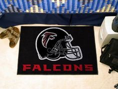 "Atlanta Falcons Starter Rug 20""x30"" by Fanmats. $13.68. Atlanta Falcons Starter Rug 20""x30""Decorate your home or office with area rugs by FANMATS. Made in U.S.A. 100% nylon carpet and non-skid recycled vinyl backing. Officially licensed and chromojet printed in true team colors. Please note: These products are custom made. The normal lead time is about 7-10 business days. However, the putting mats and carpet tiles do take a little longer, about 14-21 business days.***This item i..."