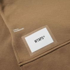Buy the WTAPS Kultur Sweat in Olive Drab from leading mens fashion retailer END. - only Fast shipping on all latest WTAPS products Fashion Tag, Fashion Labels, Look Fashion, Daily Fashion, Mens Fashion, Design Food, Tag Design, Label Design, Branding Design