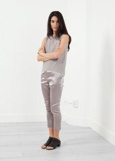 Silk Pullup Pant