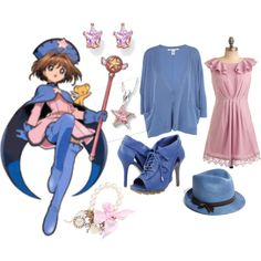 """Sakura - Pink & Blue"" by catloverd on Polyvore"