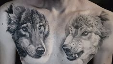 Tattoo Wolf Brust Mann Brust Tattoo, Tattoo Wolf, Raven, Animals, Ideas, Animales, Animaux, Ravens, Crows