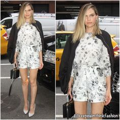 Sara Foster in Zimmermann promoting her show 'Barely Famous' at AOL Build Studios in New York. (📷 Just Jared) Sara Foster, Just Jared, Ivanka Trump, The Fosters, Red Carpet, Celebrity Style, New York, Rompers, Celebs