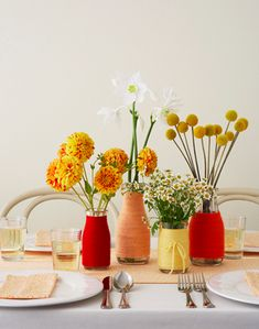 home made colorful vase designs