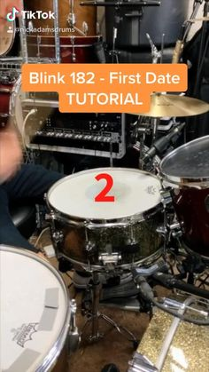 """This is a basic drum lesson teaching the bridge drum beat from the song """"First Date"""" by Blink 182 on a DW drumste and Paiste Cymbals Music Lessons For Kids, Music Lesson Plans, Drum Lessons, Piano Lessons, Guitar Lessons, Drum Sheet Music, Drums Sheet, Samba Drums, Percussion Drums"""
