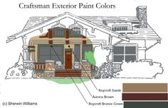 Craftsman House Colors Schematic