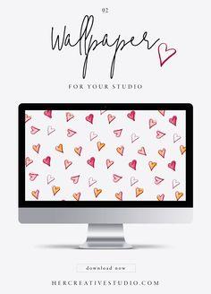 February Wallpaper 2018 — Her Creative Studio Free Desktop Wallpaper, Laptop Wallpaper, Iphone Wallpapers, Wallpaper Backgrounds, Desktop Calendars, September Wallpaper, Dress Your Tech, Cork Boards, Calendar Organization