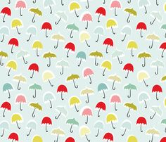 Umbrellas fabric by happygoluckycreations on Spoonflower - custom fabric