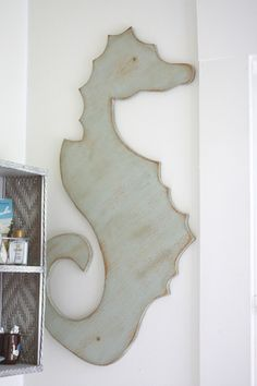 Sea Horse Wall Hanging - Beach cottage home tour