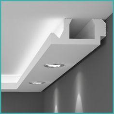 Lichtleisten in wunderschönen modernen und organischen Formen - tolle…Indirect lighting as a residential design. Wonderful lighting effects. - Home DecorEasy-to-fit lightweight polystyrene coving that provides a perfect finish.