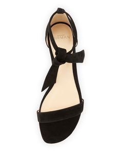 aa16c5664cd Alexandre Birman - Clarita Suede Ankle-Tie Flat Sandal Shoe Sites