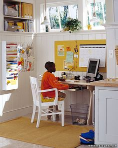 Hmmm. Lot's of opens spaces and I usually prefer shelves with doors to hide everything. But, I love the color and accessiblity...especially with having a 3 year old.