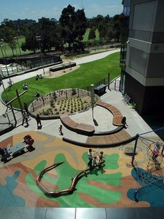 This beautiful Inclusive Playground is located at Royal Children's Hospital in Melbourne