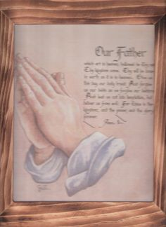 Let us Pray saying the Lord's Prayer   w/ free shipping in the continental USA by OldTimeCountryCrafts, $9.50
