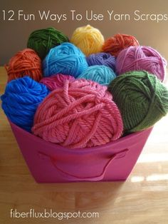 12 Fun Ways To Use Yarn Scraps