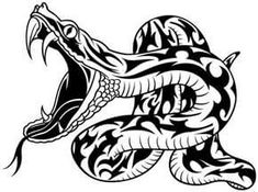 Twitsnaps Zoom :: Snake tattoos are usually drawn as snake tribal # - ClipArt Be. Maori Tattoos, Tribal Tattoos, Cool Tattoos, Head Tattoos, Tatoos, Estilo Tribal, Arte Tribal, Tribal Art, Clipart