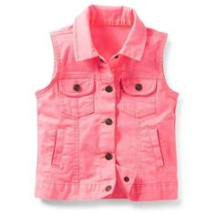 Amazon.com: Carter's Girls Jean Vest: Clothing ($16) ❤ liked on Polyvore featuring baby girl