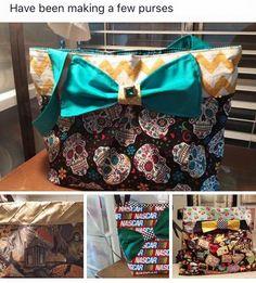 fabric handbag   Artfully Resourceful