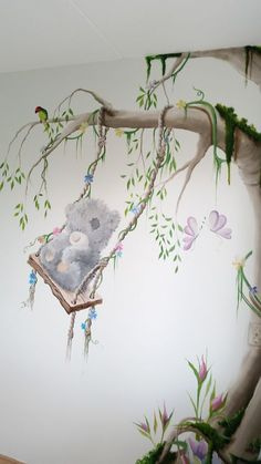 tatty mural, muurschildering me to you beertje door saskia stegeman saskia creations Baby Room Art, Baby Bedroom, Girl Room, Kids Room Murals, Tree Wall Murals, Kids Church Decor, Kids Decor, Country Wall Decor, Home Decor Wall Art