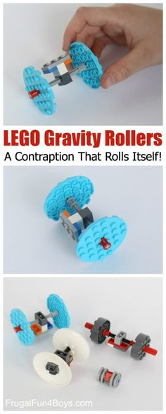 LEGO Gravity Rollers:  A Fun Contraption That Propels Itself!