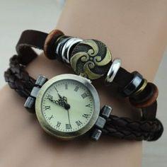 Ladies' Fashion Bracelet Roman Numeric Watch with Cloud Pendant Disk: USD $9.68