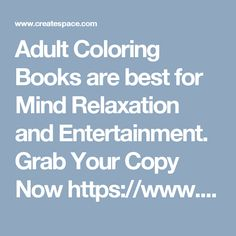 Adult Coloring Books are best for Mind Relaxation and Entertainment. Grab Your Copy Now https://www.createspace.com/6251407 Adult Coloring Book Complex Mandalas Vol:1 .