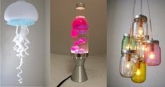 Great DIY's ideas for lamps! Event Lighting, Cool Lighting, Neon Party, Do It Yourself Projects, Hobbies And Crafts, Decoration, Lava Lamp, Diy Projects, Diy Crafts