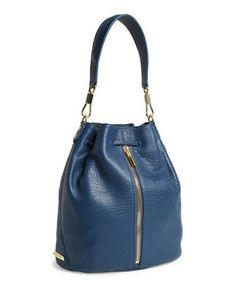 ELIZABETH AND JAMES Cynnie Leather Sling Backpack Bucket bag