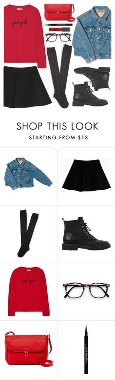 """30/11/2016"" by anamarija00 ❤ liked on Polyvore featuring Balenciaga, Max&Co., Aéropostale, Giuseppe Zanotti, Chinti and Parker, FOSSIL, Givenchy, Maybelline, black and red"