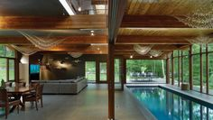 New-York City-based studio Fractal Construction has designed the Hudson Valley Country House.  Completed in 2011, this 7,000 square foot contemporary home is located in Cold Spring, New York, USA.
