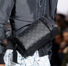 Louis Vuitton's new Fall 2016 men's bags include a new black and grey damier, called Damier Eclipse.