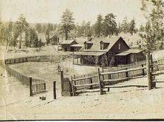 Old West Log Fontier Cabin, 1870's