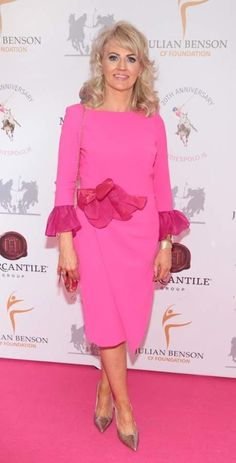 Catherine Nolan. Pic: Brian McEvoy Celebrity Gossip, Peplum Dress, Irish, Female, Celebrities, Lady, Beauty, Dresses, Fashion