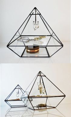 Pyramid Display Box Stained Glass Display Box by jacquiesummer