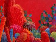 Desert Inspiration,red cactus,saquaro,prickly pear